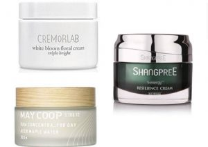 Cremorlab la Triple Bright White Bloom Floral Cream - May Coop Raw Concentra Day Cream - Shangpree S-Energy Relisience Cream
