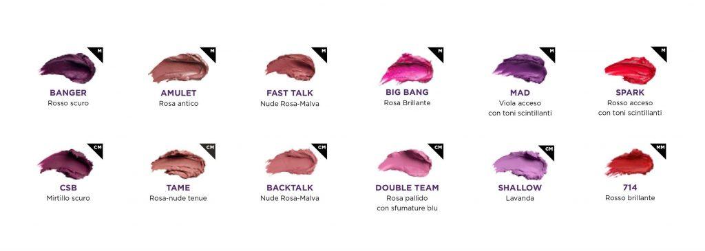 Swatches Palette Lipstick Metal Meets Matte