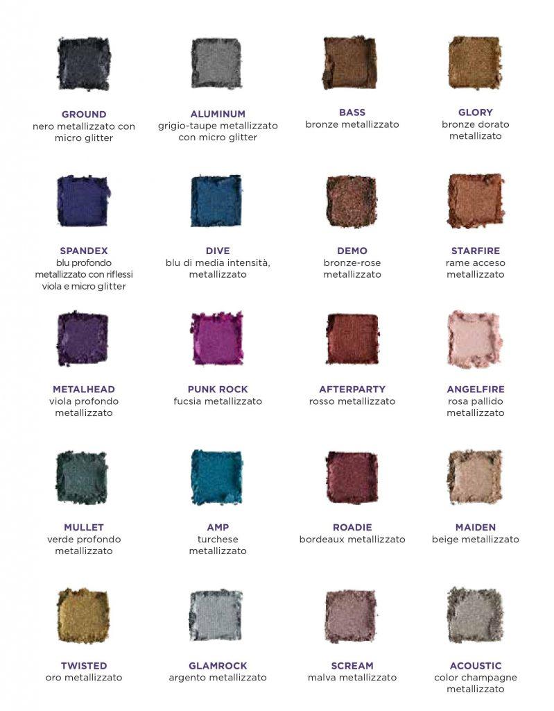 Swatches Heavy Metal Metallic Eyeshadow Palette