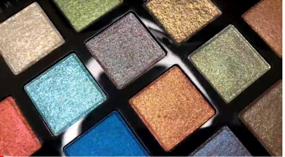 Close up Galaxy Eyeshadow Palette shown by Desi Perkins