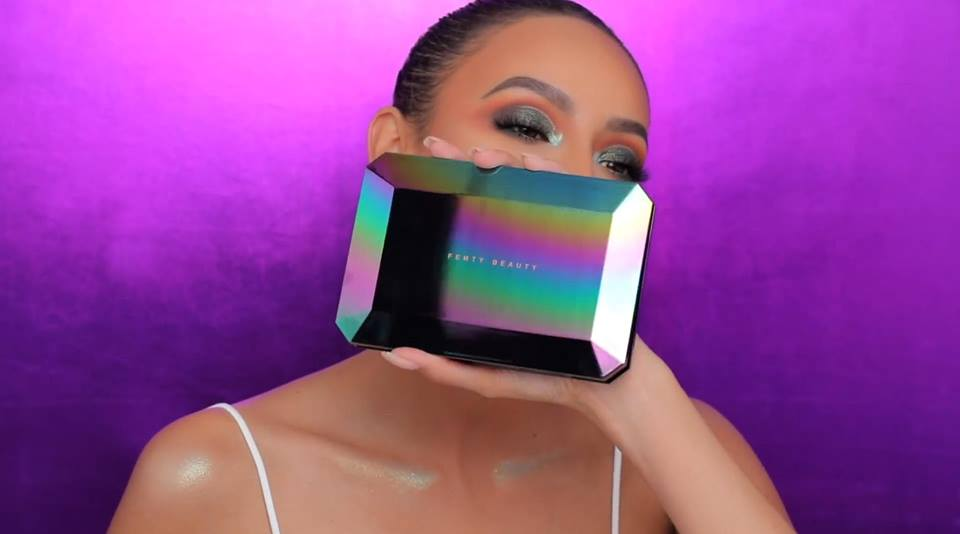 Desi Perkins shows the Galaxy Eyeshadow Palette