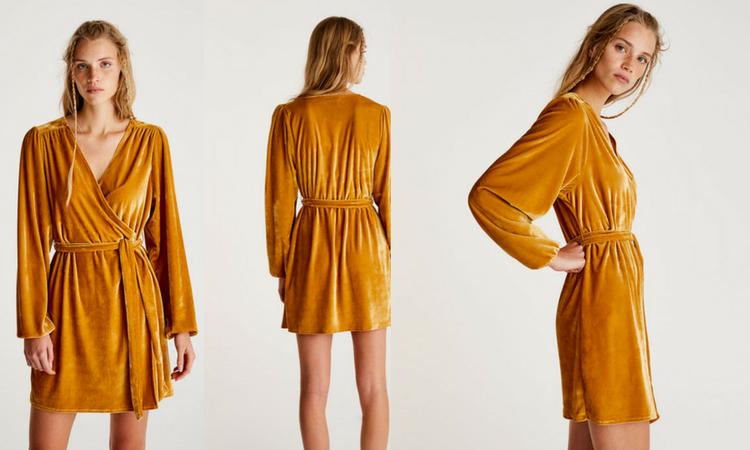 Velluto giallo mostarda. con questo abito punta tutto sugli accessori !