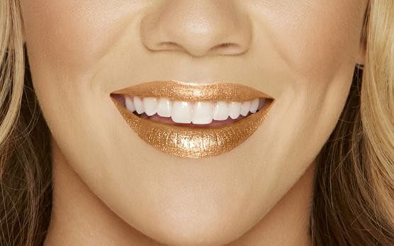 Le labbra col il Melted Gold