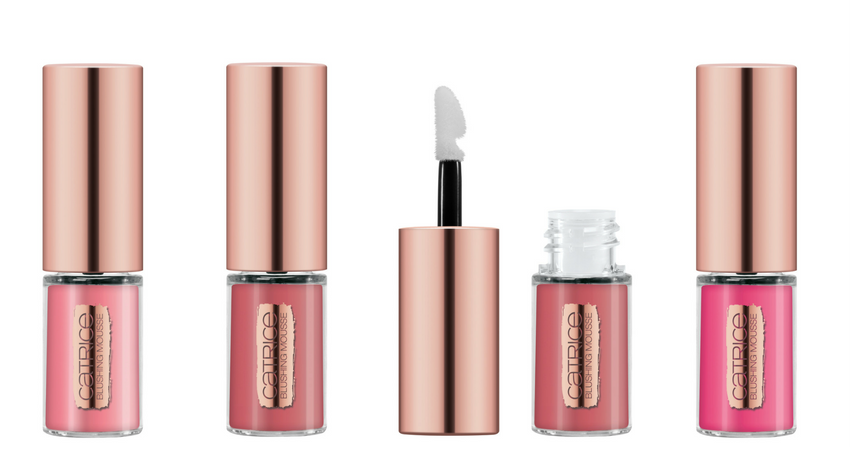 Blush in mousse: 01 Orchid, 02 Blushed TANtation, 03 Dusted Rose