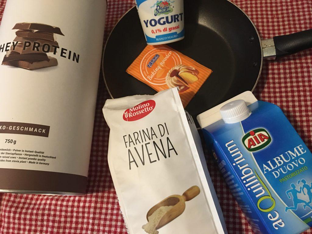 Ingredienti dei miei pancake proteici !
